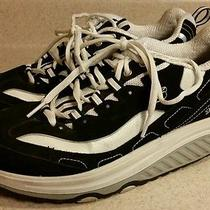 Skechers Shape Ups Sneakers Shoes Toning Black & White Women's Size 9 11809 D5 Photo