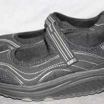 Skechers Shape Ups Womens 9 Black Mesh Velcro Strap Athletic Walking Shoes Rl Photo