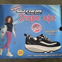 Skechers Shape Ups Womens Size 8.5 Black Brand New in Box With Original Dvd Photo