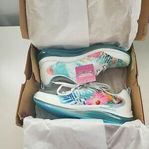 Skechers Skech Air Element 2.0 Flower Hawaiian Tropical Sneakers 9 White Blue Photo