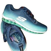 Skechers Skech-Air Element Athletic Shoes Running / Fitness Navy Aqua Great Cond Photo