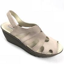 Skechers Stylin Womens Sandals Size 10 Blush Pink Suede Wedge Peep Toe Platform Photo