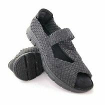 Skechers Synergy Sunday Stroll Black Woven Mary Jane Sandals Womens Size 8.5 Photo