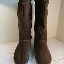 Skechers Tone-Ups Brown Suede Mid Furry Lining Boots Women's Size 8 Photo