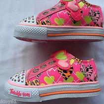 Skechers Twinkle Toes Slide Step Light-Up Sneakers Tod Sz 5 Pink Nib Photo