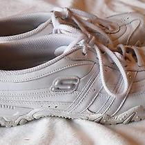 Skechers White Womens Sneakers Size 8.5- Guc  Photo