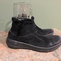 Skechers Women's Black on the Go Joy Bundle Up Suede Ankle Boots Size 8.5 Photo