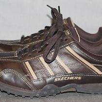 Skechers Womens Sz 4 Brown/dark Brown Leather Casual Lace Up Oxford Shoes Rl Photo