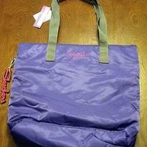 Skechers Xl Tote Bag Purse Handbag (Purple W/ Gray Handles) Photo
