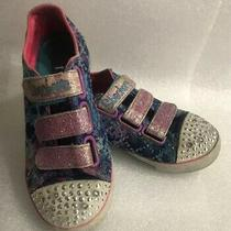 Sketchers Girls' Twinkle Toes Sn10562l Size 12 Preowned Sneakers Photo