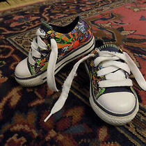 Sketchers Skx Sneakers Infant Toddler Sz 5.5 Tie Snake Multi Color Pattern Vguc Photo