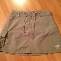 Skirt Fishingsports by Against Elements Sz 8green khaki.polyesterpockets Euc Photo