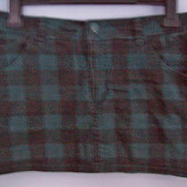 Skirt Ladies Mini Skirt Green & Black Check by Divided H & M Euro Size 38 Photo