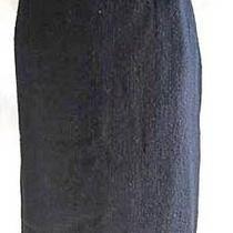 Skirt Yves Saint Laurent Ysl Vintage 90s Nos Grunge Pencil  Wool Boucle Black 14 Photo