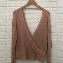 Sky and Sparrow Blush Pink v-Neck Sweater Photo