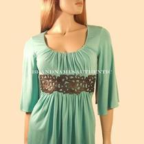 Sky Brand Mini Dress Kimono Top Leather Belt Aqua Green Nwt Xs X-Small Photo