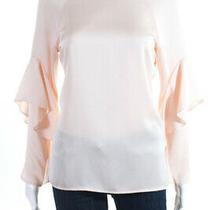 Slate & Willow Womens Blush Ruffle Sleeve Top Pink Size Medium 11519125 Photo