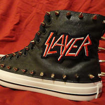 Slayer Heavy Metal Punk Rock Custom Studded Converse Chuck Sneakers Shoes Spikes Photo