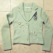 Sleeping on Snow Pearl Embellished Cardigan S Anthropologie Blazer Knit Jacket  Photo