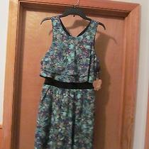 Sleeveless Lined Dress Size 11 Princess Vera Wang Multi Green & Other Nwt Photo