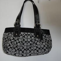 Slightly Used Black Coach Bag Photo