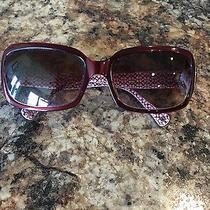 Slightly Used Coach Amelia Burgundy Sunglasses Photo