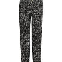 Slim-Fit Pants Black and White Paint h&m Size 4 Photo