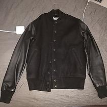 Slim Leather Sleeved Varsity Jacket by American Apparel Supreme Givenchy Bomber Photo