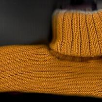 Slipper Socks Orange Knit One Size by Gold Medal New With Tag Photo