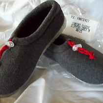 Slippers  Ladies Size 9 Gray With Red Tie  Warm  New   Clearance Sale Photo