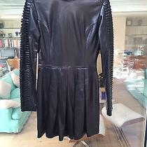 Sly 010 Nappa Leather Long Sleeved Dress Like Balmain Like New Gorgeous Sz 40 Photo