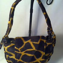 Small Animal Print Fake Fur Baguette Purse Satchel Hobo Handor Shoulder Bag Photo