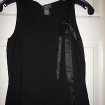 Small Banana Republic Black Silk Cashmere Satin Tie Sleeveless Tank Top Photo
