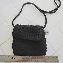 Small Black Knit Purse-Messinger/cross Body Bag-the Sak Photo