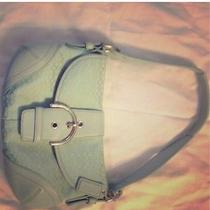Small Blue Coach Purse Photo