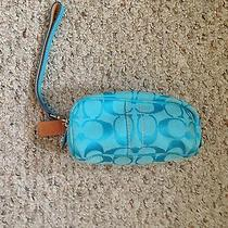 Small Blue Coach Wristlet  Photo