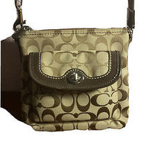 Small Brown C-Patterned Coach Purse Photo