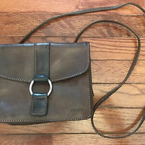 Small Brown Genuine Leather Fossil Crossbody Purse Handbag  Photo