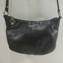 Small Coach Black Leather Shoulder Crossbody Messenger Bag Photo
