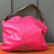 Small Cute Hot Pink Leather Handbag by Fossil Photo