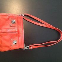 Small  Marc Jacobs Percy Totally Turnlock Crossbody Bag Fluoro Coral Orange Photo