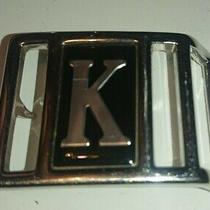 Small Metal Belt Buckle Avon K Chrome Finish  Photo