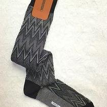 Small Nwt Missoni Zig Zag Grey Mens Suit Knee Socks Over the Calf Md in Italy S Photo