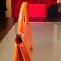 Small Orange Moschino Leather Handbag Photo