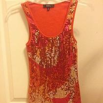 Small Orange Sequin Tank Express S  Photo