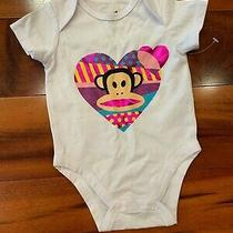 Small Paul Baby Girl Heart Graphic One Piece - White - 3/6 Months - New Photo