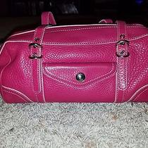 Small Pink Fossil Leather Shoulder Bag Euc Photo