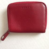 Small Red Coach Change Purse Photo
