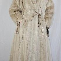 Small Unique Blush Dyed Mink Fur Coat Matching Rope Ties W/fur Storage Bag Photo