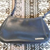 Small Women's Liz Claiborne Black Faux Leather Purse Hand Bag Photo